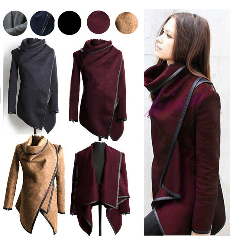 Winter Wool Coat Trench Coats Women Long Jacket Girl Tops Xl on Luulla