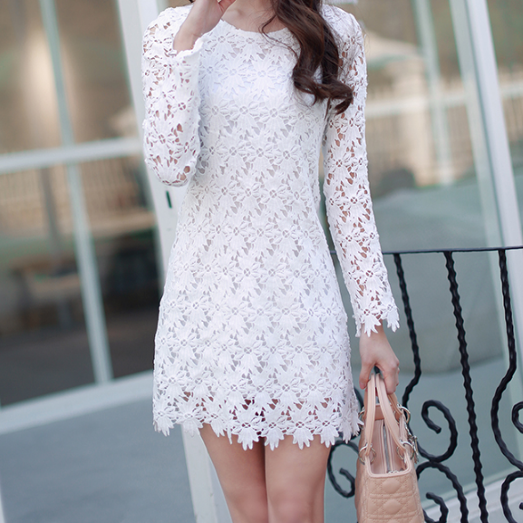 Printed Lace Princess Dress---L